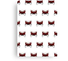 Guns and Roses Red (Pattern) Canvas Print
