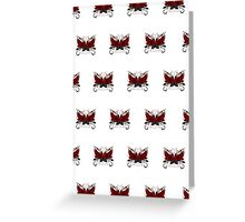 Guns and Roses Red (Pattern) Greeting Card