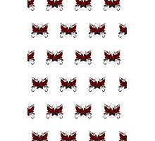 Guns and Roses Red (Pattern) Photographic Print