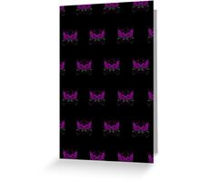 Guns and Roses Purple (Pattern 2) Greeting Card