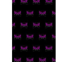 Guns and Roses Purple (Pattern 2) Photographic Print