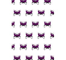 Guns and Roses Purple (Pattern) Photographic Print