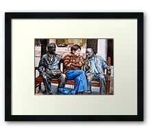 where are you from? Framed Print