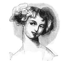 """Laura"" engraving after Gigoux for Gil Blas 1835 by OldeArte"