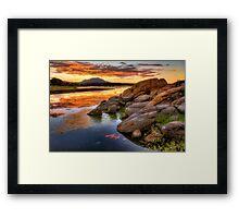 Reflecting Dusk Framed Print