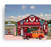 Western Auto Parker,Florida Canvas Print