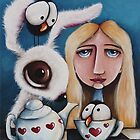 Alice and the white rabbit by StressieCat