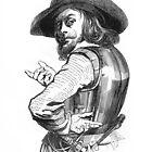 """""""Captain Rolando"""" engraving after Gigoux, Gil Blas 1835 by OldeArte"""