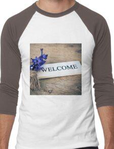 Welcome Door Sign Men's Baseball ¾ T-Shirt