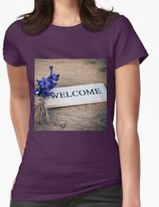 Welcome Door Sign Womens Fitted T-Shirt