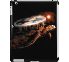 Turtle World - Space black transparency iPad Case/Skin