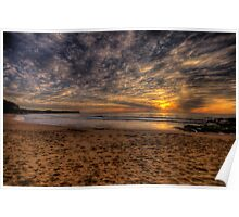 New World In The Morning -Warriewood Beach, Sydney - The HDR Experience Poster