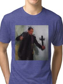 The Exorcist by Pierre Blanchard Tri-blend T-Shirt