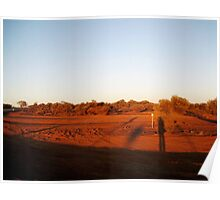 The colours of Australia - Sunset in Leinster, WA Poster