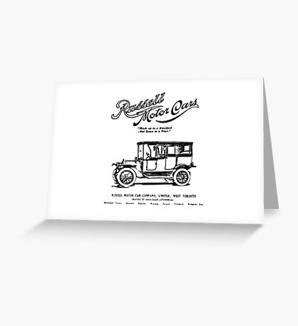 Classic Car Ads: Russell Motor Cars Greeting Card