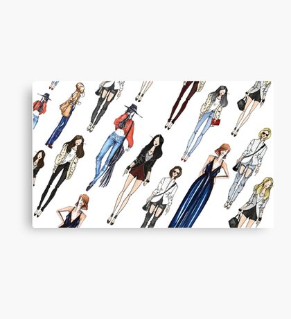 Casual Girl's outfits Canvas Print