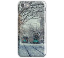 Never ending winter. Brookline, MA iPhone Case/Skin
