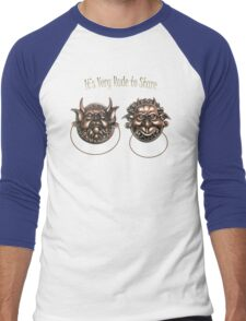 It's Very Rude to Stare Labyrinth Knockers Men's Baseball ¾ T-Shirt