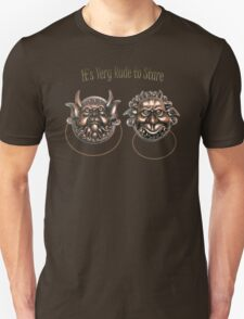 It's Very Rude to Stare Labyrinth Knockers Unisex T-Shirt