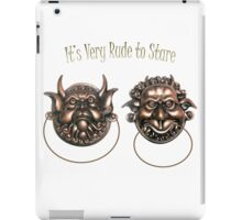 It's Very Rude to Stare Labyrinth Knockers iPad Case/Skin