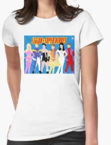 Legion of Super-Heroes Minimal 1 Womens Fitted T-Shirt