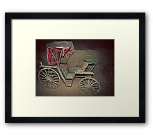 Rustic, Red, Renovation Required, Buggy Framed Print