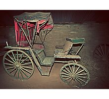 Rustic, Red, Renovation Required, Buggy Photographic Print