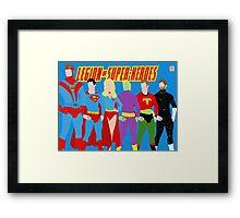 Legion of Super-Heroes Minimal 2 Framed Print