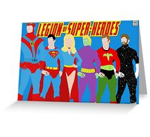 Legion of Super-Heroes Minimal 2 Greeting Card