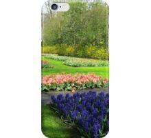 Colourful Beds of Hyacinths and Tulips - Keukenhof Gardens iPhone Case/Skin