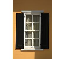 Flemington, NJ - Yellow Window Photographic Print