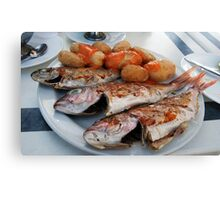 Fish n chips Canarian Styley Canvas Print