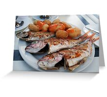 Fish n chips Canarian Styley Greeting Card