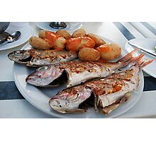 Fish n chips Canarian Styley Photographic Print