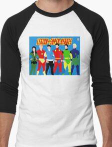 Legion of Super-Heroes Minimal 3 Men's Baseball ¾ T-Shirt
