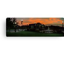 Sunrise in the Park Canvas Print