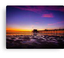 Newport Pier Sunset Canvas Print