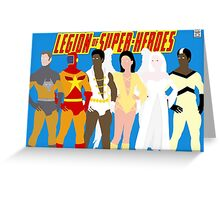 Legion of Super-Heroes Minimal 5 Greeting Card