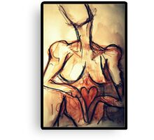 hand and heart Canvas Print