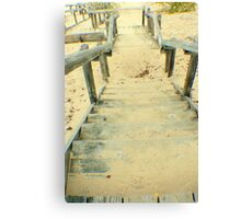 Stairs from the Beach Canvas Print