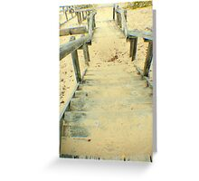Stairs from the Beach Greeting Card