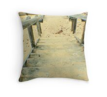 Stairs from the Beach Throw Pillow