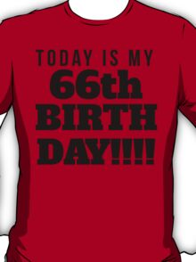 Today Is My 66th Birthday T-Shirt