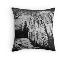 Ominous House Throw Pillow