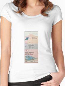 Italian Train Ticket Women's Fitted Scoop T-Shirt