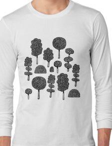 Arboretum 230715 - Black on White Long Sleeve T-Shirt