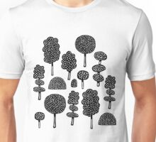 Arboretum 230715 - Black on White Unisex T-Shirt