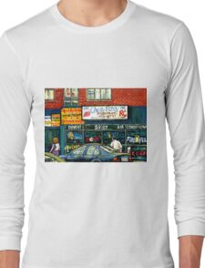 VINTAGE MONTREAL KOSHER RESTAURANTS CHEZ FOXY RUE VICTORIA Long Sleeve T-Shirt