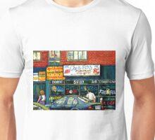 VINTAGE MONTREAL KOSHER RESTAURANTS CHEZ FOXY RUE VICTORIA Unisex T-Shirt