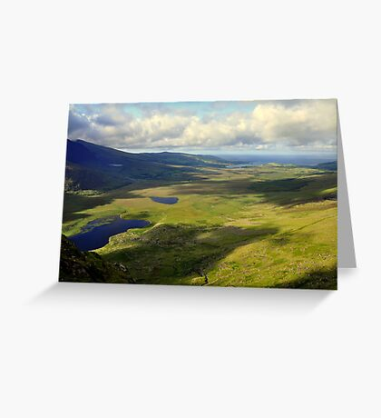 View from the Conor Pass. Greeting Card